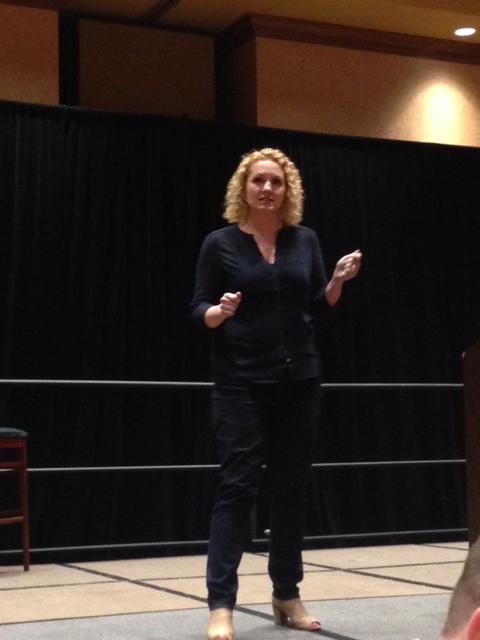 Alli Worthington speaking at AWBU