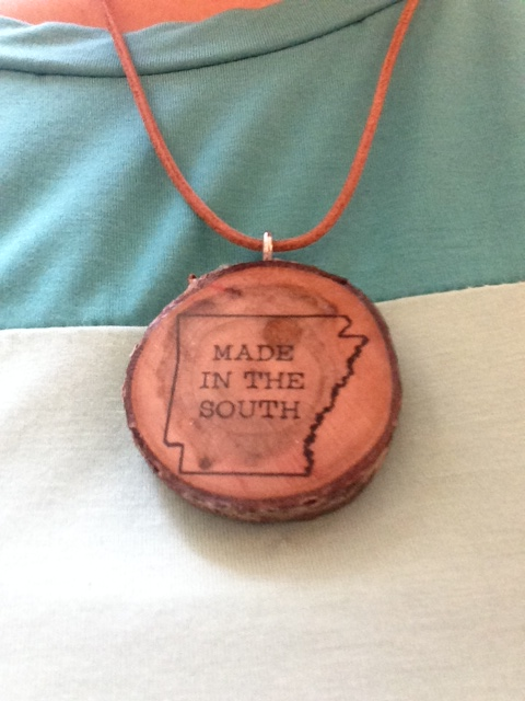 Made in the South wooden necklace