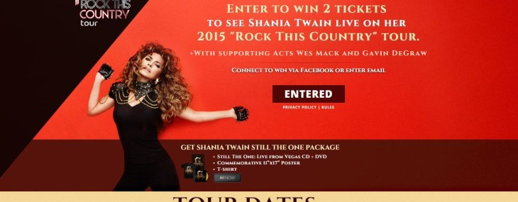 Shania Twain is touring?!
