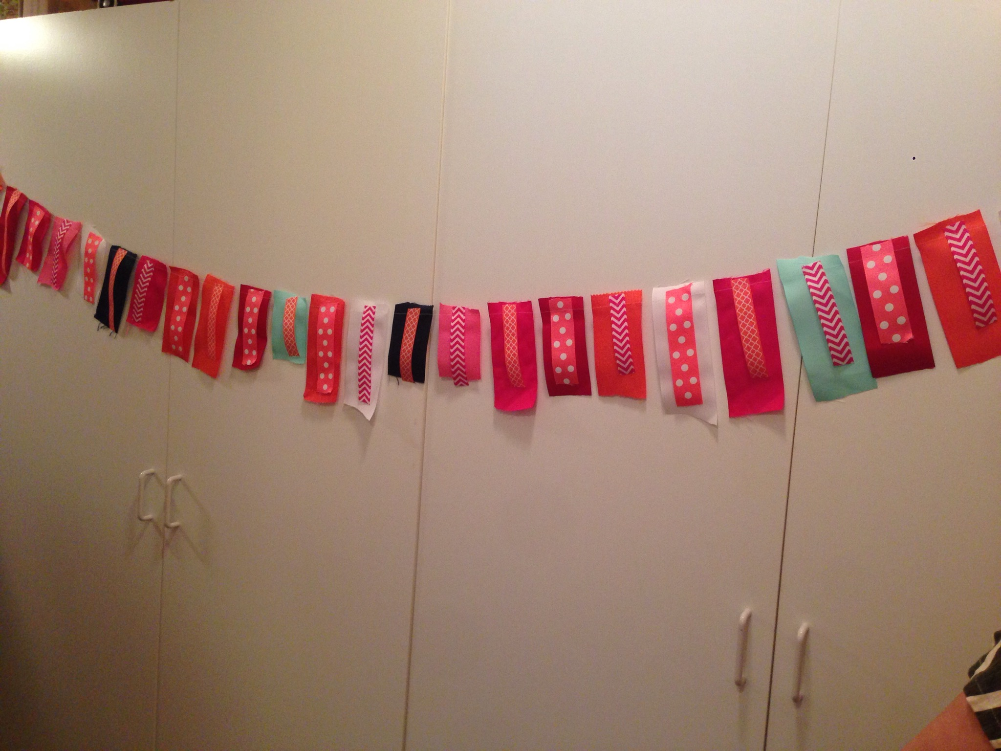 finished baby shower ribbon banner