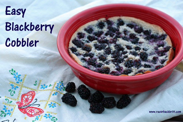 Super easy blackberry cobbler